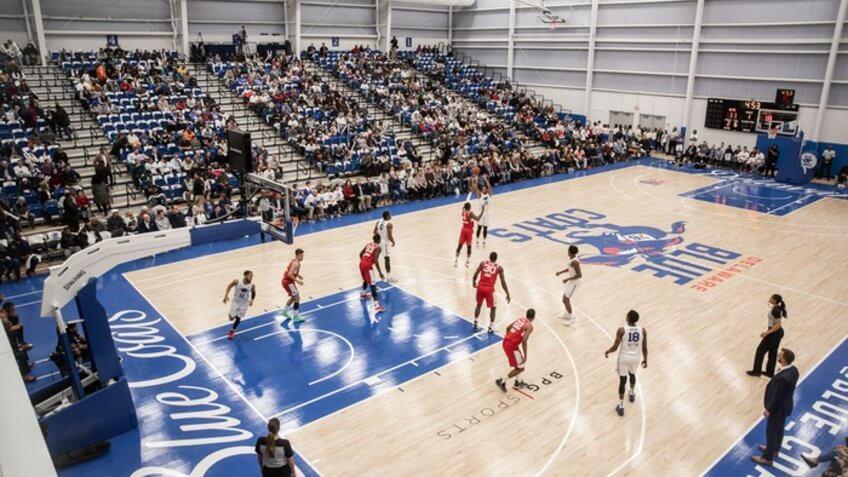 76ers Fieldhouse Delaware NCAA basketball