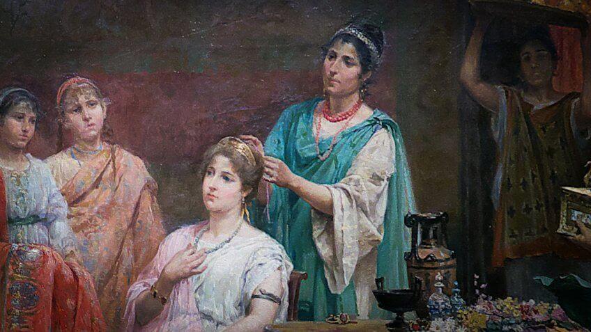 Ancient Rome hairdresser ornatrix