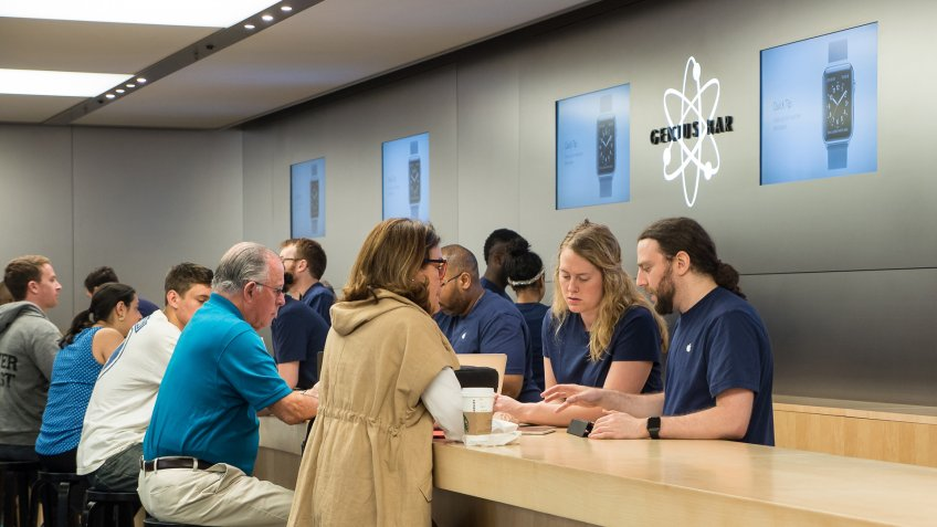 Apple store genius bar and AppleCare support