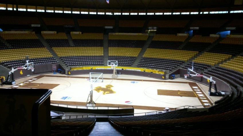Arena Auditorium Wyoming NCAA basketball