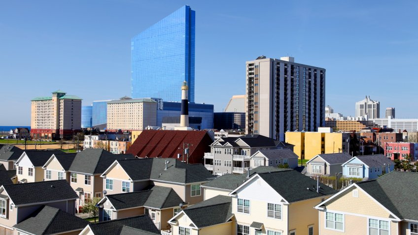 Atlantic City located on the Jersey shore is a resort city on Absecon Island  in Atlantic County, New Jersey.