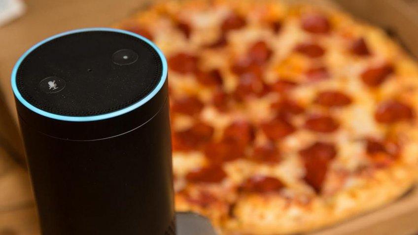 Bensen AI voice assistant pizza