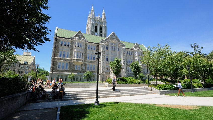 Boston College Gasson Hall in Chestnut Hill Massachusetts