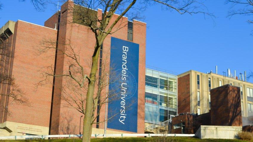 Brandeis University campus in Waltham Massachusetts