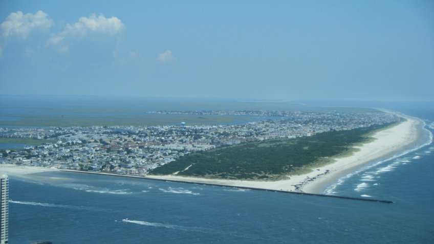 Brigantine New Jersey aerial view climate change