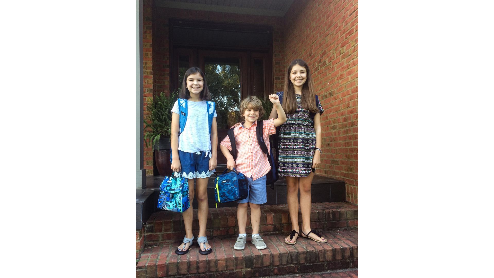 Cameron Huddleston children at their home