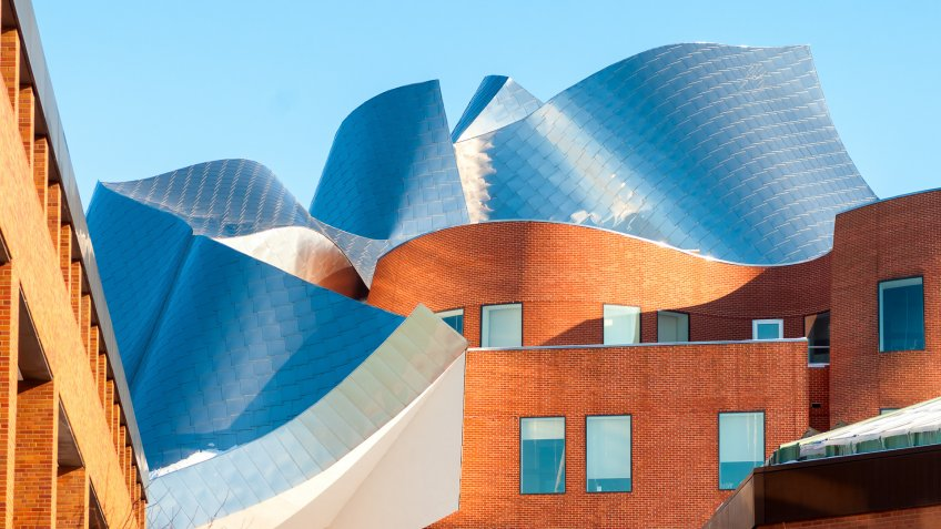Case Western Reserve University Peter B Lewis by Frank Gehry in Cleveland Ohio