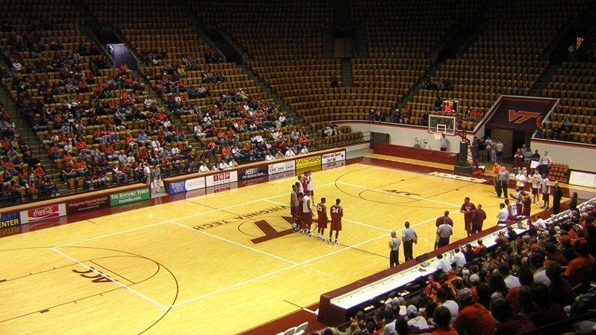 Cassell Coliseum Virginia NCAA basketball