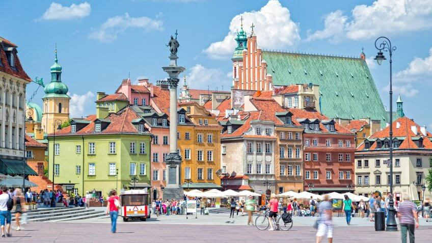 Castle Square and King Zygmunt Column in Warsaw.