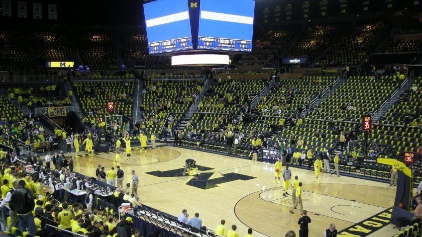 Crisler Center Michigan NCAA basketball