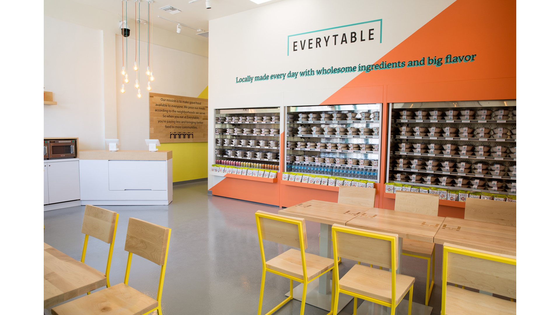 Everytable Hoover interior healthy fast food in Los Angeles California