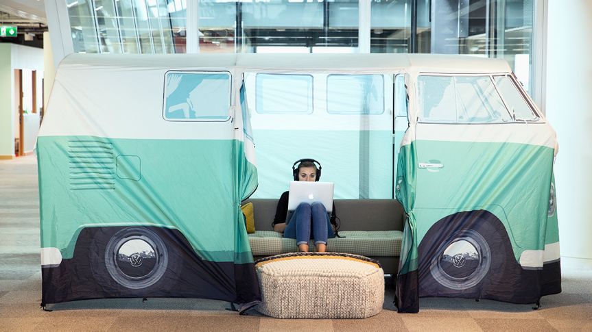 Teams at Facebook are encouraged to make their workspace their own, like this one in our London office.