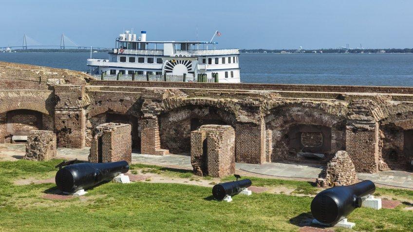 Fort Sumter in Charleston South Carolina