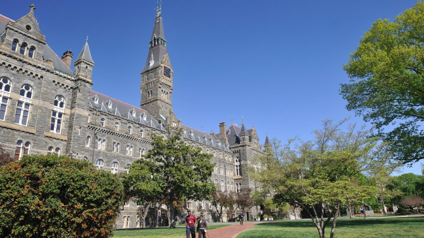 Georgetown University Healy Hall campus in Washington DC