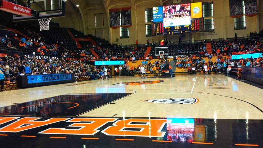 Gill Coliseum Oregon NCAA basketball