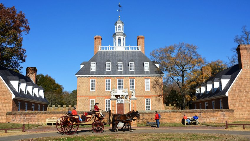 Governors Palace in Colonial Williamsburg Virginia
