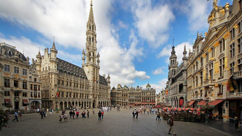 Grand Palace in Brussels Belgium
