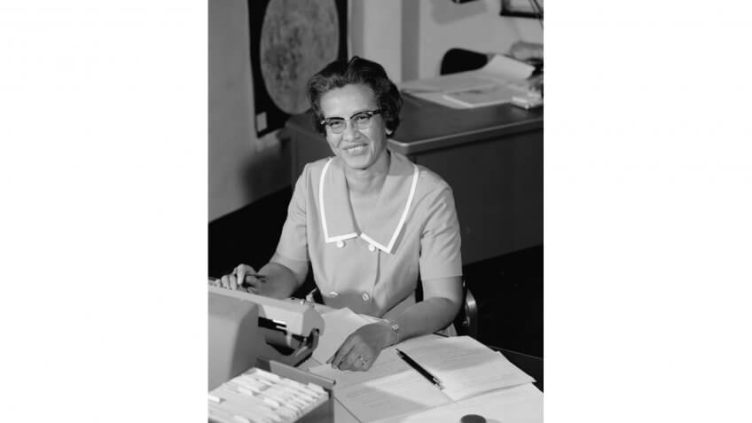 Katherine Johnson at NASA in 1966