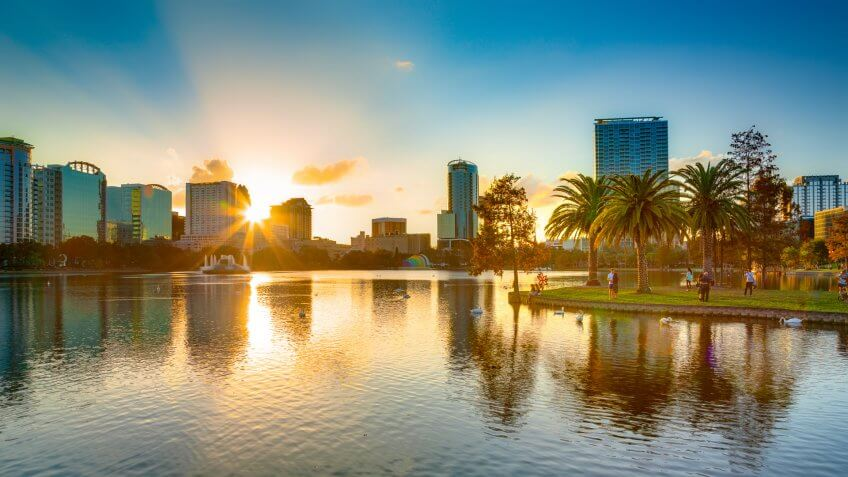 Lake Eola Park in Orlando Florida