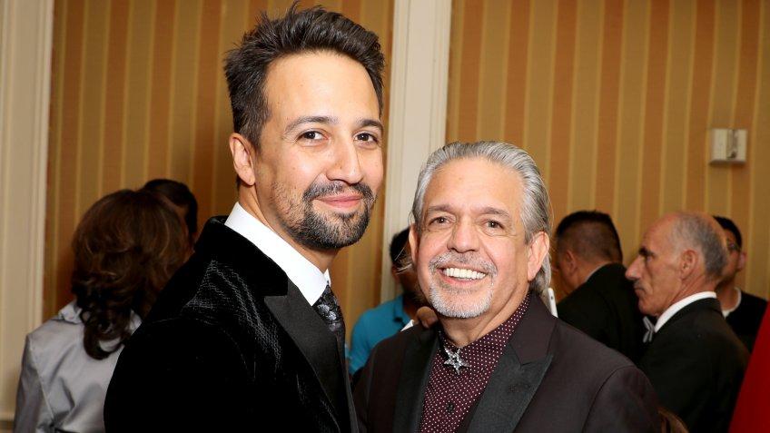 Lin-Manuel Miranda and Luis A. Miranda Jr. 32nd Annual Imagen Awards