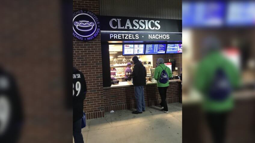 M&T Bank Stadium Baltimore Ravens concession stand food