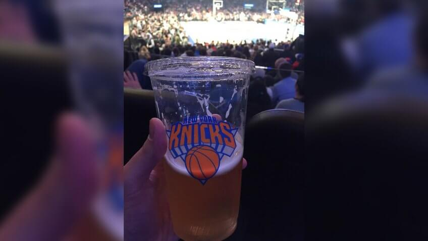 Madison Square Garden New York Knicks stadium food