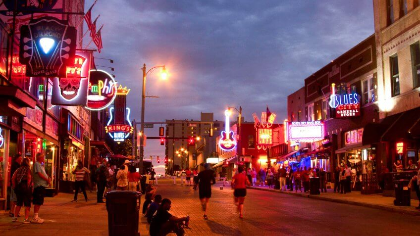Memphis Tennessee downtown Beale Street