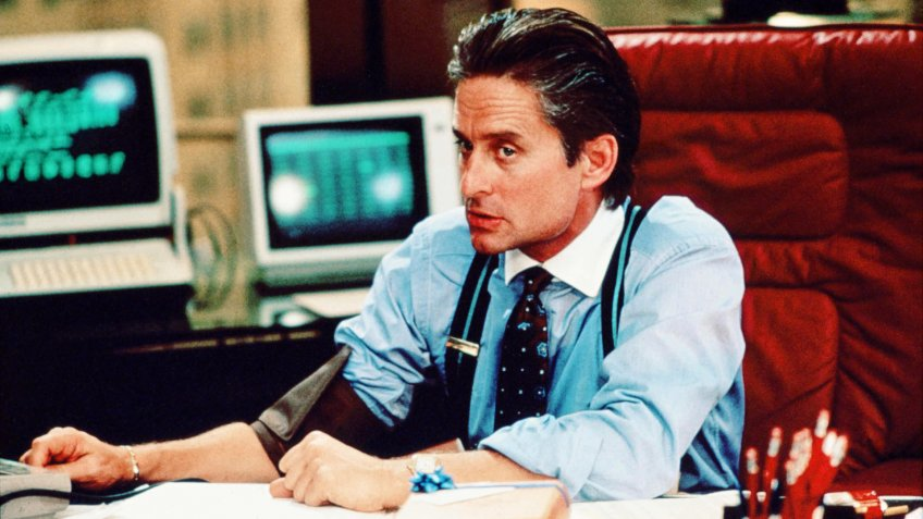 Michael Douglas in the 1987 film WALL STREET
