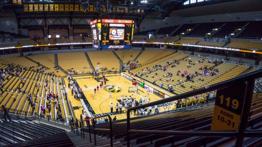 Mizzou Arena Missouri NCAA basketball