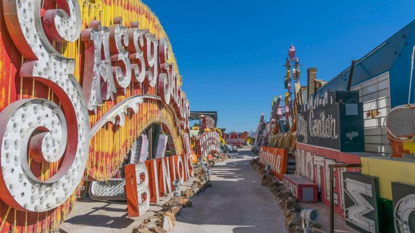 Neon Museum in downtown Las Vegas Nevada