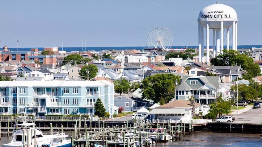 Overlooking Ocean City, New Jersey from the bay to the ocean.