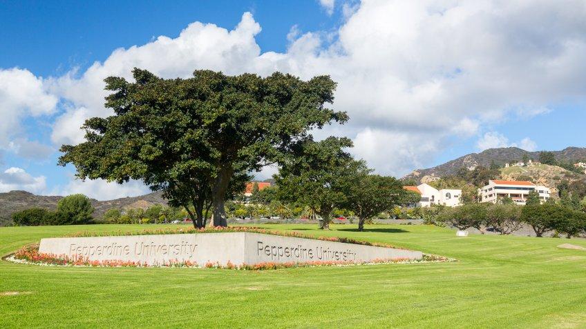 Pepperdine University campus in Malibu California