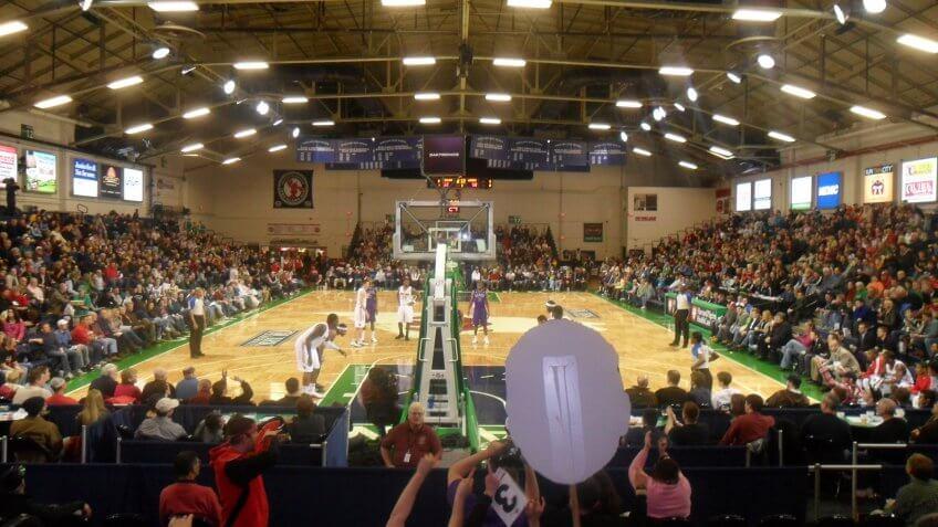 Portland Exposition Building Maine NCAA basketball