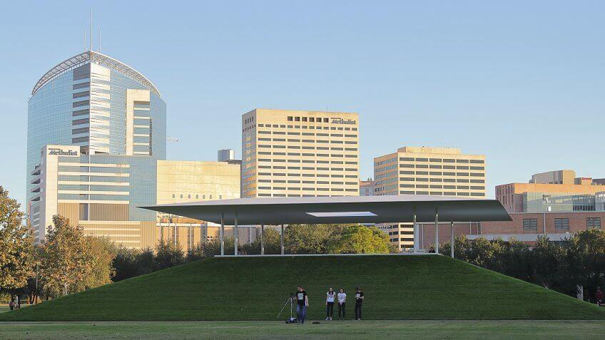 Rice University James Turrell Skyspace in Houston Texas