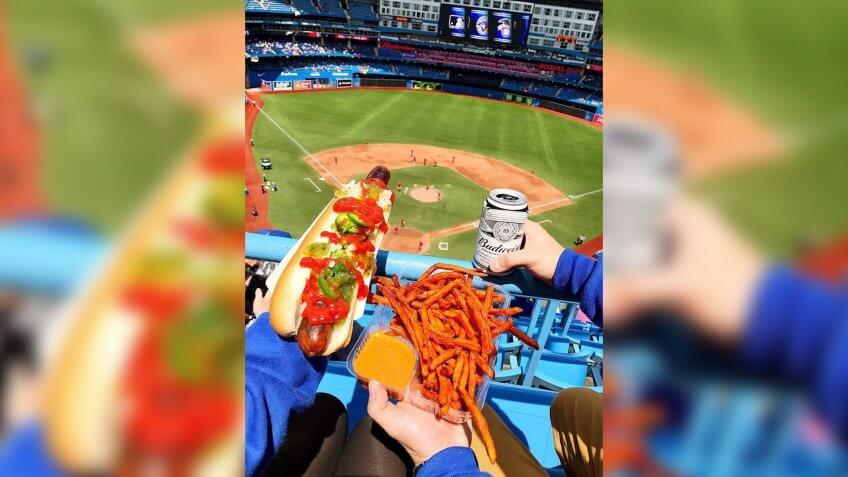 Rogers Center Toronto Blue Jays game day snacks
