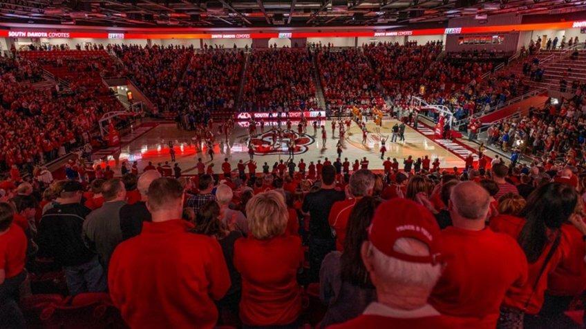 Sanford Coyote Sports Center South Dakota NCAA basketball