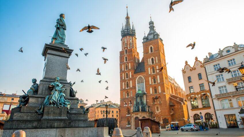 St Mary Basilica in Krakow Poland