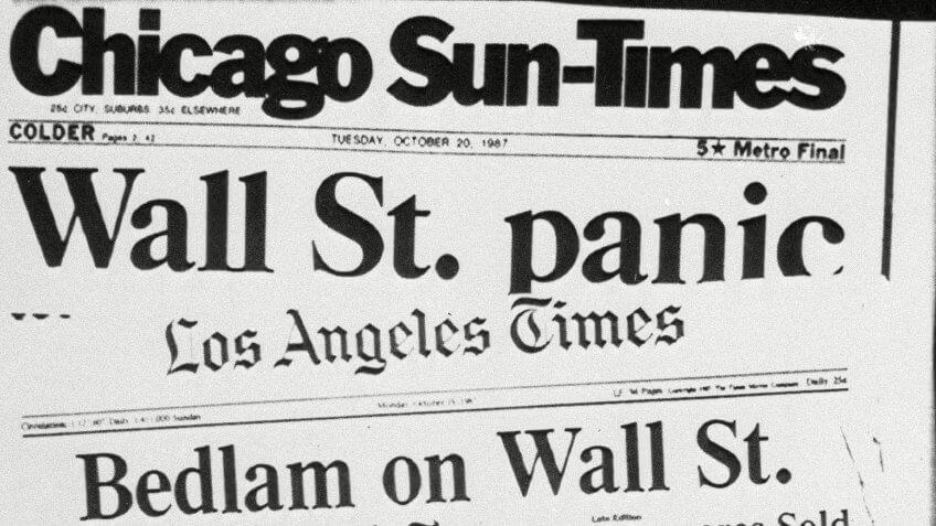 Stock-Market-Crash-of-1987-newspaper-headlines