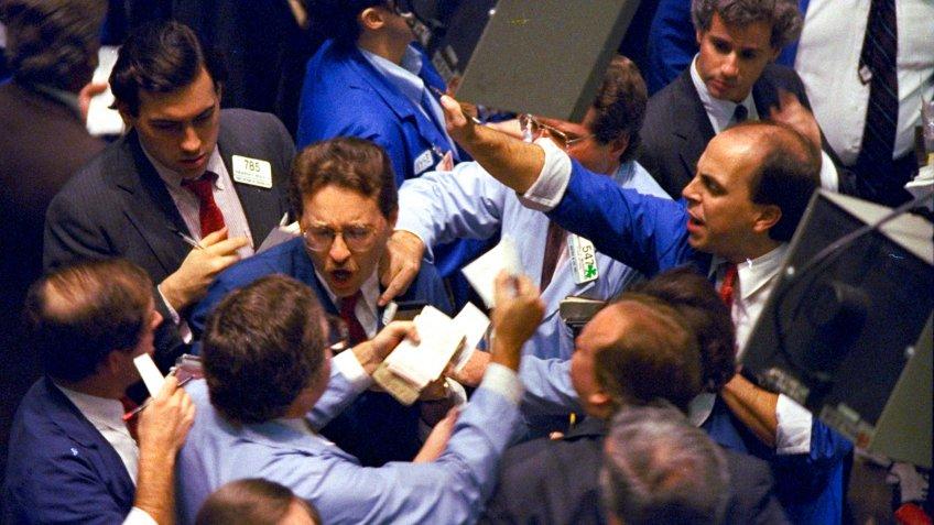 Stock market crash in 1987 New York USA