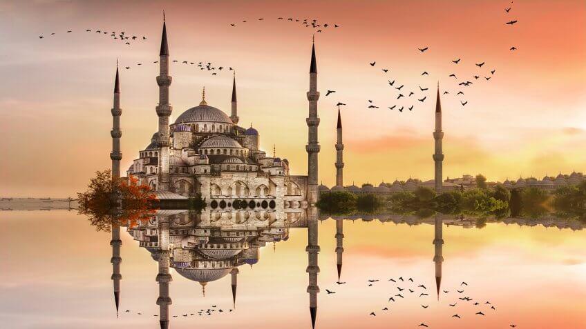 Sultanahmet Mosque in Istanbul Turkey