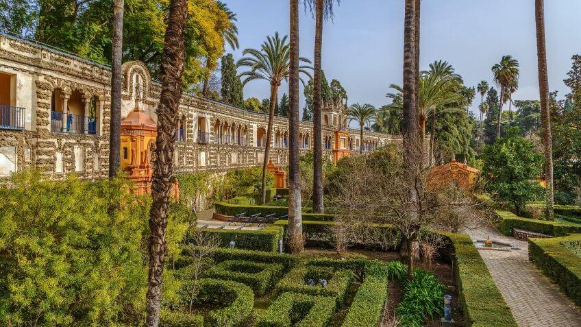 The Alcazar of Seville in Spain