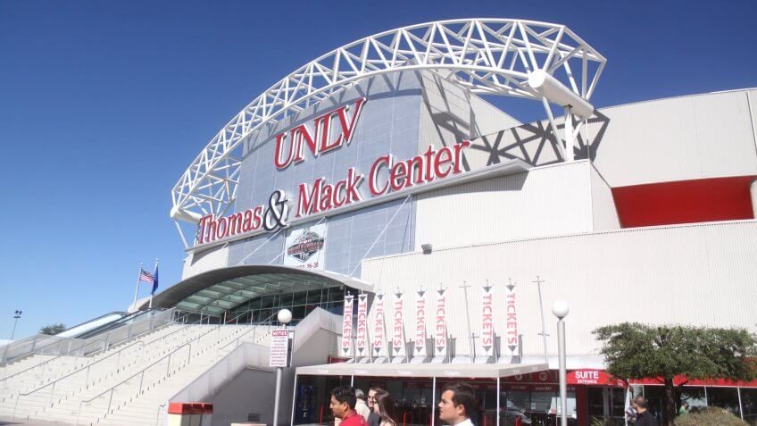 Thomas & Mack Center Nevada NCAA basketball