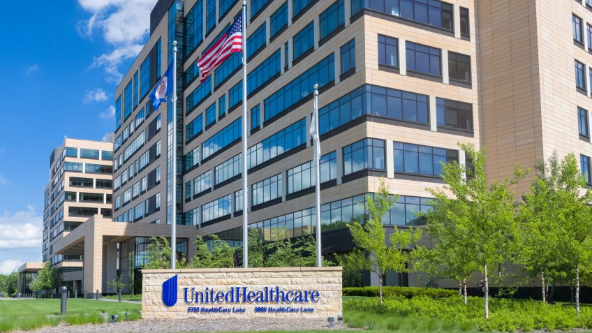 MINNETONKA, MN/USA - MAY 29, 2016: UnitedHealthcare corporate headquarters exterior and sign.