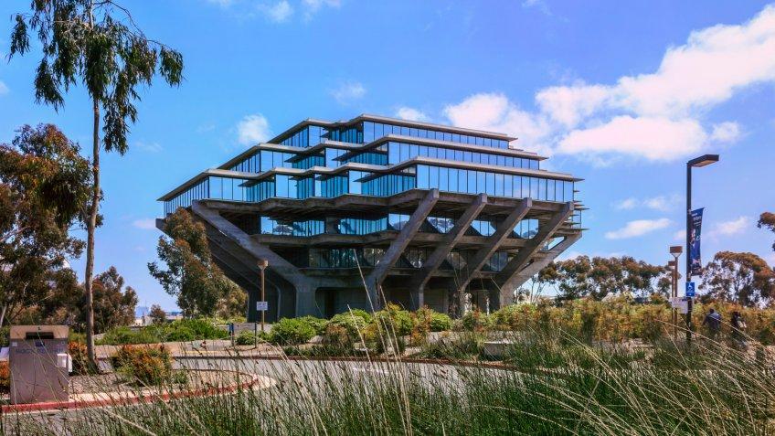 University of California San Diego Geisel Library campus