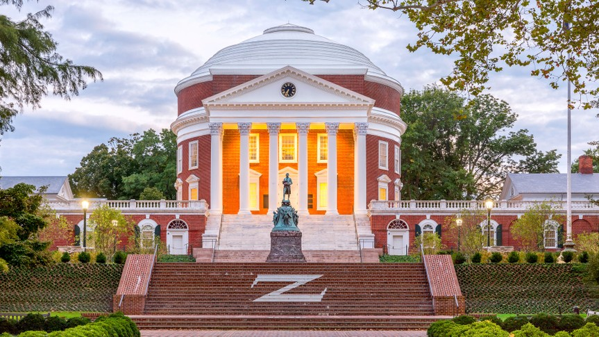University of Virginia Rotunda in Charlottesville Virginia
