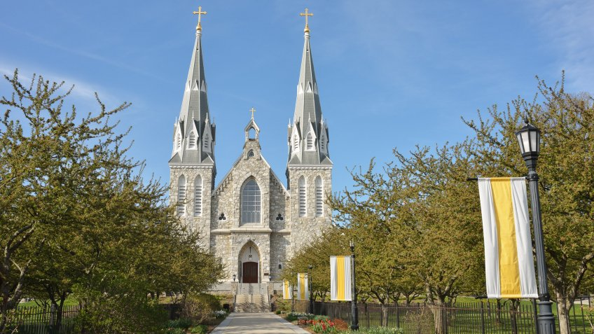 Church in Villanova University, Pennsylvania, USA.
