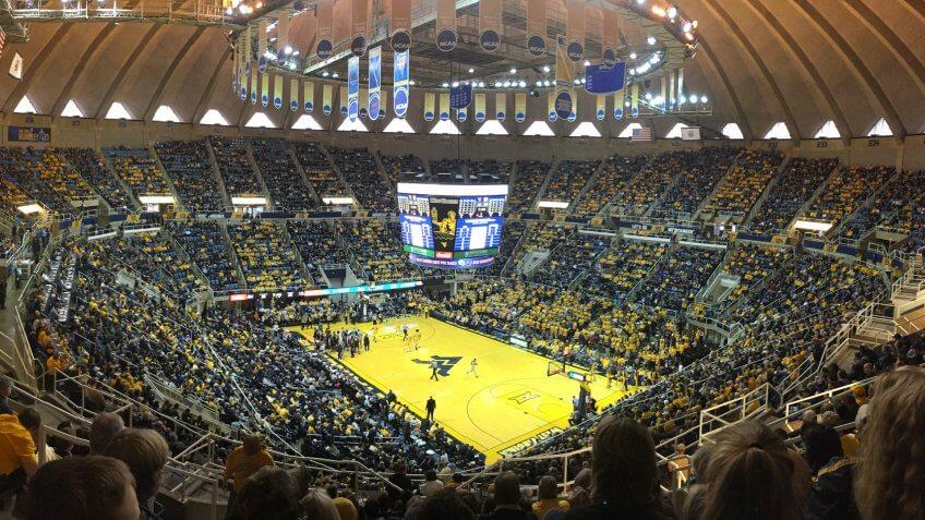 WVU Coliseum West Virginia NCAA basketball
