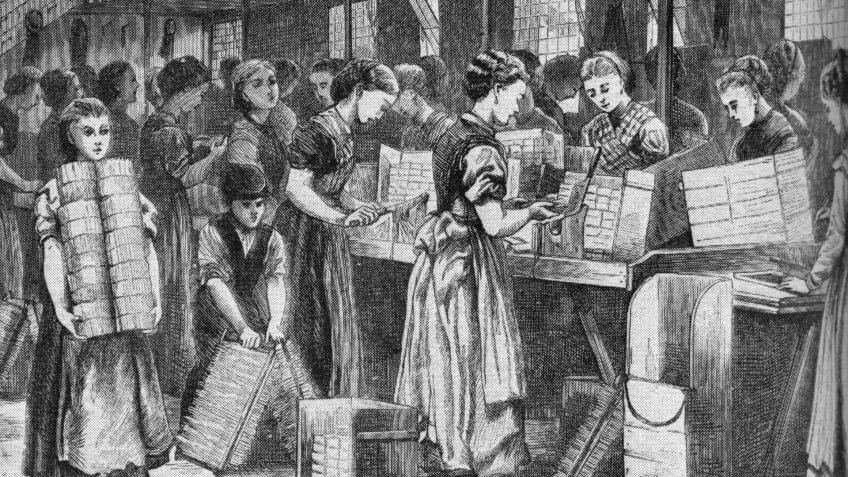 Women working in match factory