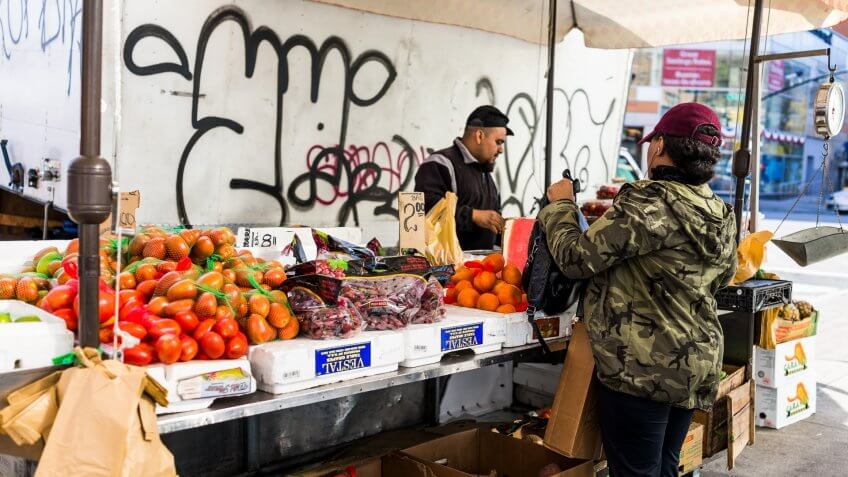 farmers market in The Bronx New York