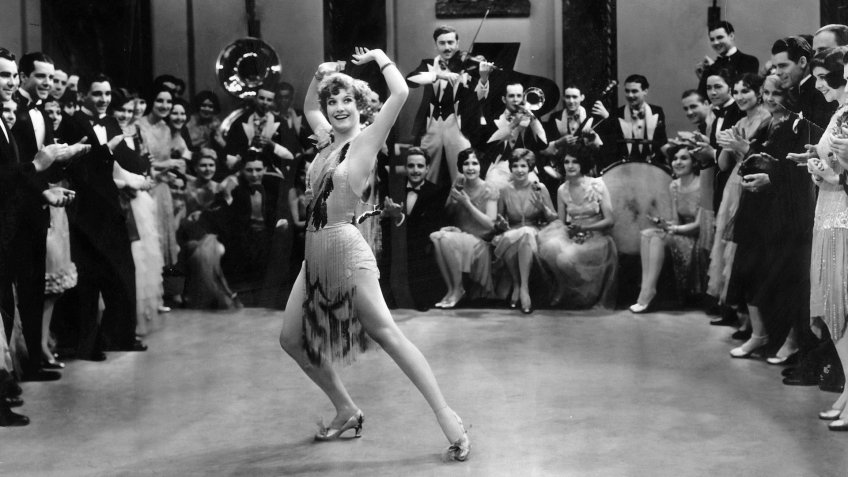 Joan Crawford dancing as a flapper in the 1928 film Our Dancing Daughters